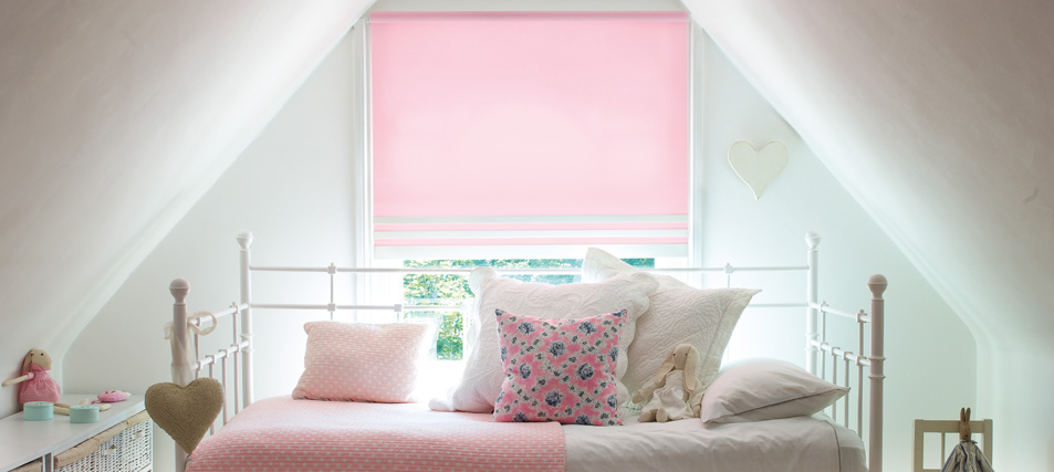 Childrens Bedroom Roller Blinds with Safety Clips