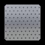 Millennium Silver Perforated - 50mm Aluminium Venetian Blinds