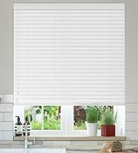 Charisma 50 Bright White - 50mm Slat Faux Wood Blind