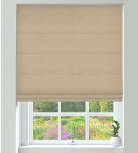 Assisi Biscuit - Luxury Plain Weave Roman Blind