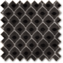 Augustus Black - Faux Silk & Chenille Pattern Roman Blind