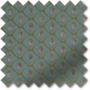 Augustus Duck Egg - Faux Silk & Chenille Pattern Roman Blind