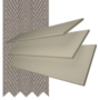Charisma 50 Beige Fine Grain - 50mm Slat Faux Wood Blind Truffle Tape
