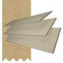 Charisma 50 Beige Fine Grain - 50mm Slat Faux Wood Blind Hessian Tape