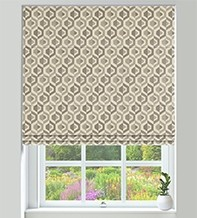 Bina Grey - Geometric Pattern Roman Blind