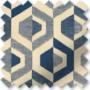 Bina Navy - Geometric Pattern Roman Blind