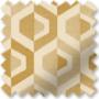 Bina Ochre - Geometric Pattern Roman Blind
