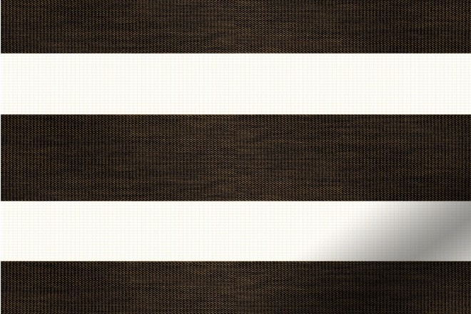 Bliss Darkest Brown - Day and Night Blind with Box Weave Voile