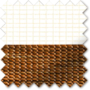 Bliss Teak - Day and Night Blind with Box Weave Voile