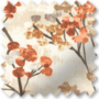 Blossom Burnt Orange - Floral Pattern Roman Blind