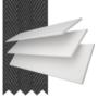 Charisma 50 BW Fine Grain - 50mm Slat Faux Wood Blind Black Tape