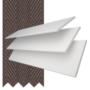 Charisma 50 BW Fine Grain - 50mm Slat Faux Wood Blind Coffee Tape
