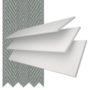 Charisma 50 BW Fine Grain - 50mm Slat Faux Wood Blind Flint Tape