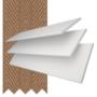 Charisma 50 BW Fine Grain - 50mm Slat Faux Wood Blind Toffee Tape
