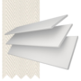 Charisma 50 BW Fine Grain - 50mm Slat Faux Wood Blind Vanilla Tape