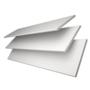 Charisma 50 White Fine Grain - 50mm Slat Faux Wood Blind