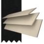 Charisma 50 Cream Fine Grain - 50mm Slat Faux Wood Blind Black Tape