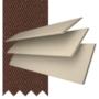 Charisma 50 Cream Fine Grain - 50mm Slat Faux Wood Blind Toffee Tape