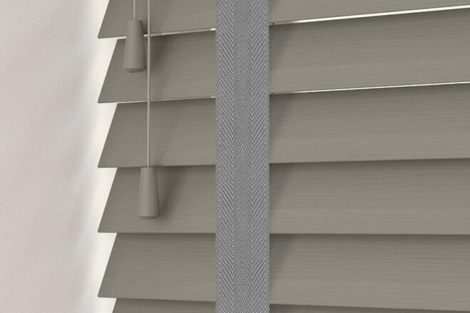 Charisma 50 DG Fine Grain - 50mm Slat Faux Wood Blind Gallant Tape