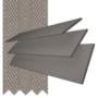 Charisma 50 DG Fine Grain - 50mm Slat Faux Wood Blind Truffle Tape