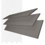 Charisma 50 Dark Grey - 50mm Slat Faux Wood Blind Super White Tape