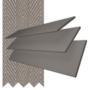 Charisma 50 Dark Grey - 50mm Slat Faux Wood Blind Truffle Tape