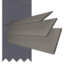 Charisma 50 Dark Grey - 50mm Slat Faux Wood Blind Slate Tape