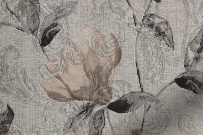 Giardino Graphite - Floral Printed Woven Jacquard Roman Blind