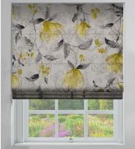 Giardino Ochre - Floral Printed Woven Jacquard Roman Blind