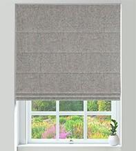 Hastings Grey Mist - Designer Basketweave Roman Blind