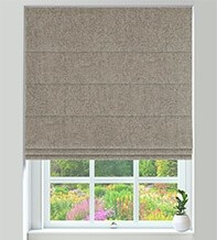 Hastings Linen - Designer Basketweave Roman Blind