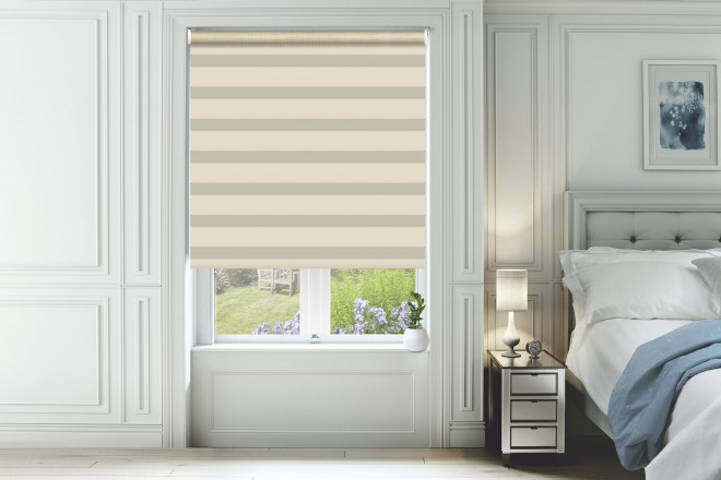 Home Beige with Matching Box Weave Day and Night Blind
