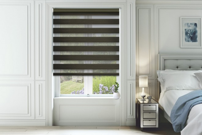 Horizon Dark Brown - Day and Night Blind with Extra Fine Voile