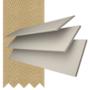 Charisma 50 Ivory Fine Grain - 50mm Slat Faux Wood Blind Hessian Tape