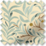KeyWest Aqua - Floral Vine Pattern Roman Blind