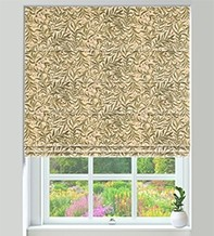KeyWest Biscuit - Floral Vine Pattern Roman Blind