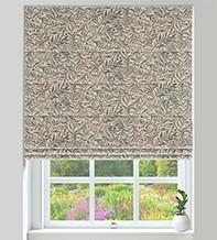 KeyWest Charcoal - Floral Vine Pattern Roman Blind