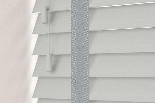 Charisma 50 LG Fine Grain - 50mm Slat Faux Wood Blind Steel Tape