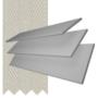 Charisma 50 Light Grey - 50mm Slat Faux Wood Blind Pebble Tape
