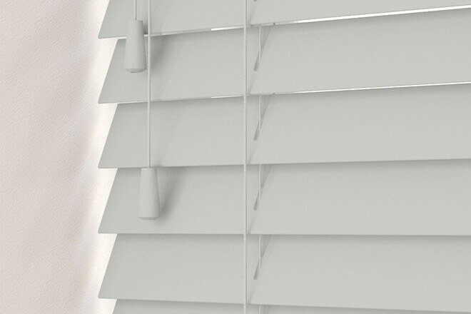 Charisma 35 Light Grey - 35mm Slat Faux Wood Blind