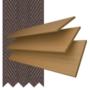 Charisma 50 Light Oak - 50mm Slat Faux Wood Blind Coffee Tape