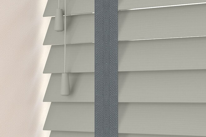 Charisma 50 MG Fine Grain - 50mm Slat Faux Wood Blind Slate Tape