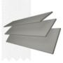 Charisma 50 Mid Grey - 50mm Slat Faux Wood Blind Super White Tape