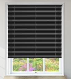 Millennium Black Perforated - 35mm Aluminium Venetian Blinds