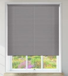 Millennium Grey Perforated - 50mm Aluminium Venetian Blinds