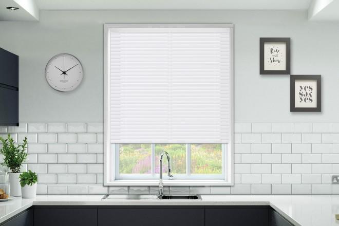 Millennium White Perforated - 50mm Aluminium Venetian Blinds