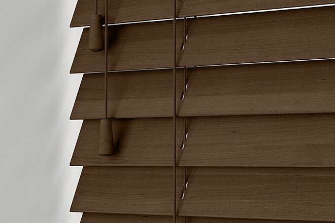 Precision Chestnut Wood - 25mm Slat Venetian Perfect Fit Blind