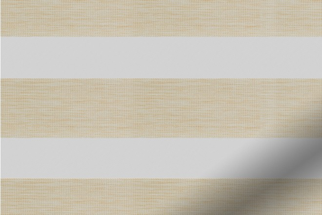 Pure Beige - Ultra Fine Voile Blackout Day and Night Blind