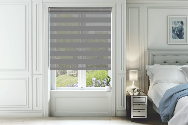 Pure Stone - Ultra Fine Voile Blackout Day and Night Blind