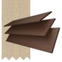 Charisma 50 Rich Brown - 50mm Slat Faux Wood Blind Hessian Tape